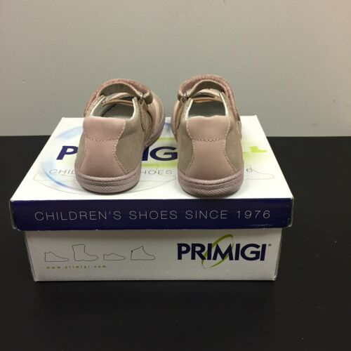 PRIMIGI Girls Kids Sky Effect Flexible Pink Leather Casual Trainers 1432622