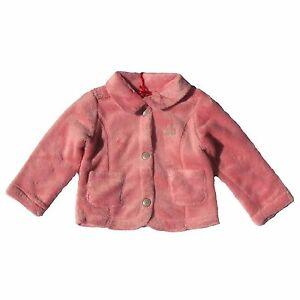 CHIPIE Cardigan Fleecejacke rosa Hunde Glitzer Stitching kuschelig weich 62 -98