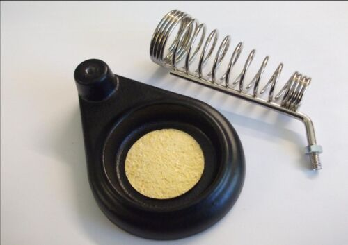 heavy duty soldering iron cast base stand with cleaning sponge