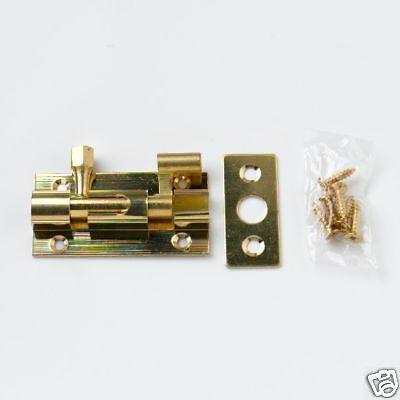 Porte Coulissante Verrou coudé 50 mm 2 in 3 per PK laiton massif avec vis 16B7 environ 5.08 cm