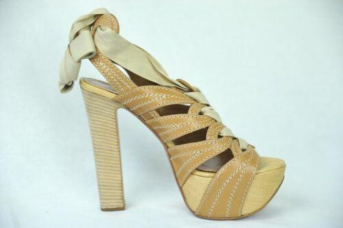 High Strappy Raffia Platform 9 Snøre Pumpe Tan New Alaia Womens Sandal 39 Heel 8xOgR4