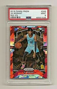 2019-20-Panini-Red-Ice-Prizm-249-JA-MORANT-Grizzlies-RC-Rookie-SP-PSA-9-MINT