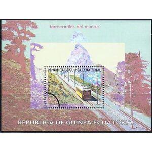 Briefmarken Äquatorialguinea Äquatorial-guinea Edifil 209 Eisenbahn ZÜge Überlastung Der Probe Eine VollstäNdige Palette Von Spezifikationen