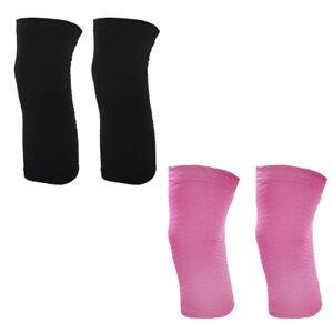 2x Breathable Knee Brace Sleeve for Hiking Soccer Basketball Running Tennis