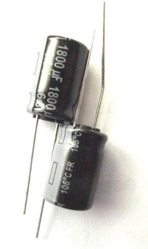 1800UF 6.3 V 105 C faible ESR Taille 16mmx10mm Panasonic EEUFR 0J182 Long Life x2pcs