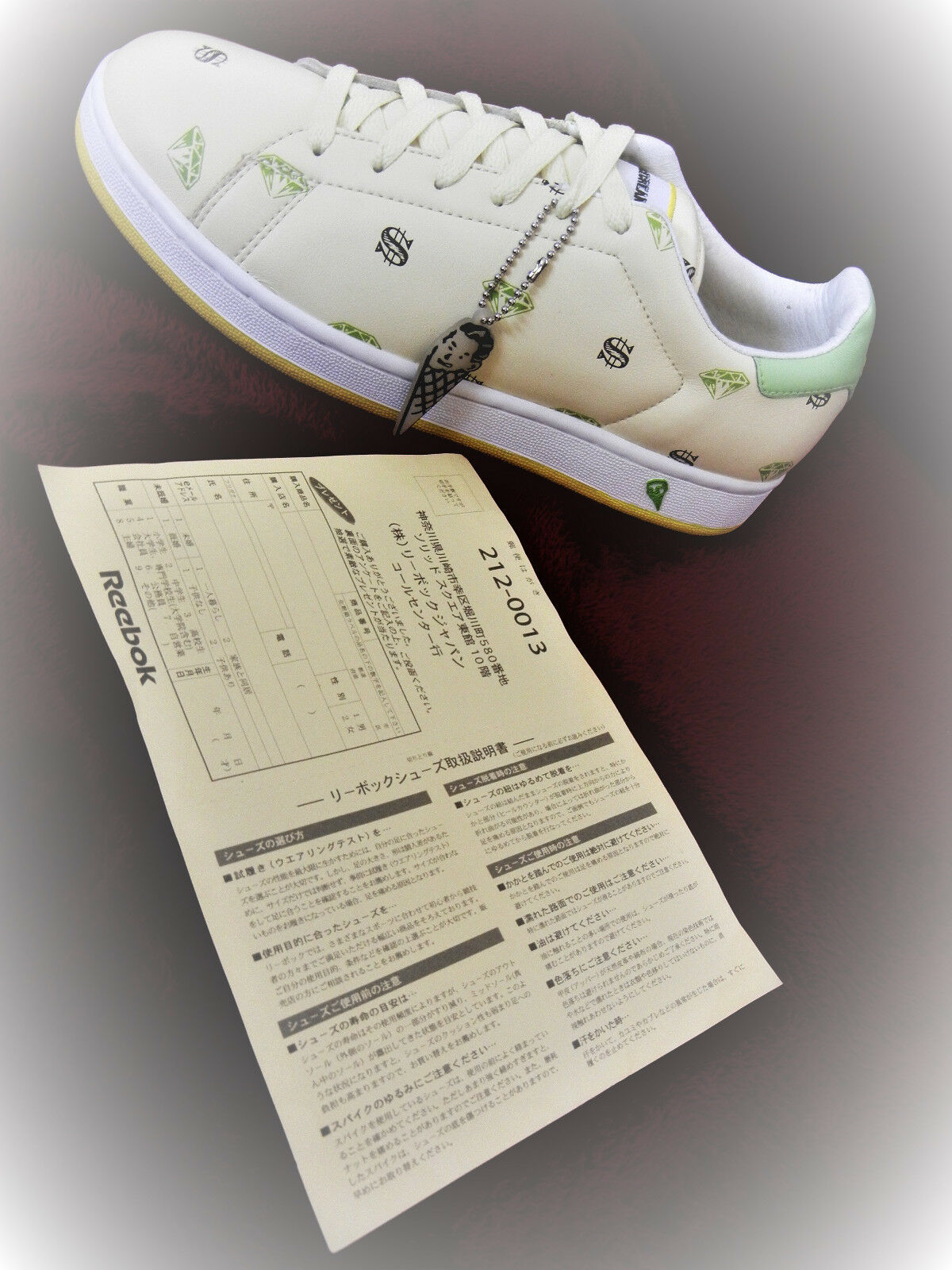 Reebok  IceCreamshoes F W 2006  JAPAN Diamond Dollar shoes SIZE 8 sneakers  DS