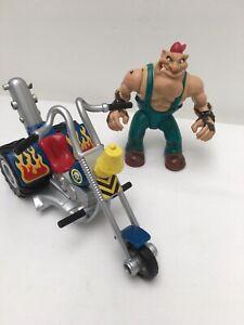 Vintage-biker-mice-from-mars-Greasepit-figure-amp-grunge-cycle-GALOOB