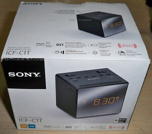 Sony ICFC1T FM/AM Dual Alarm Clock Radio, Black