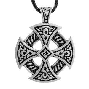 Viking celtic cross necklace pendant solar knot druid irish braided image is loading viking celtic cross necklace pendant solar knot druid aloadofball Image collections