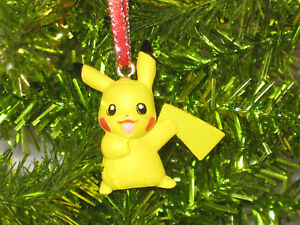 Pokemon Christmas.Details About Mini Pikachu Pokemon Christmas Figure Ornament