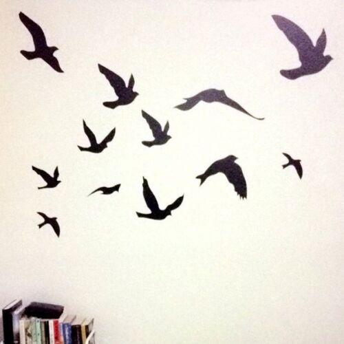 Wall Flying Birds Sticker Vinyl Decal Art Bedroom Home Decor Mural Self Adhesive