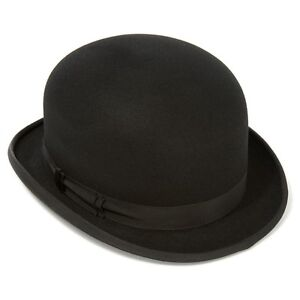 Express Hats Quality Wool Felt Top Hat 5 inch Crown Height Satin Lined