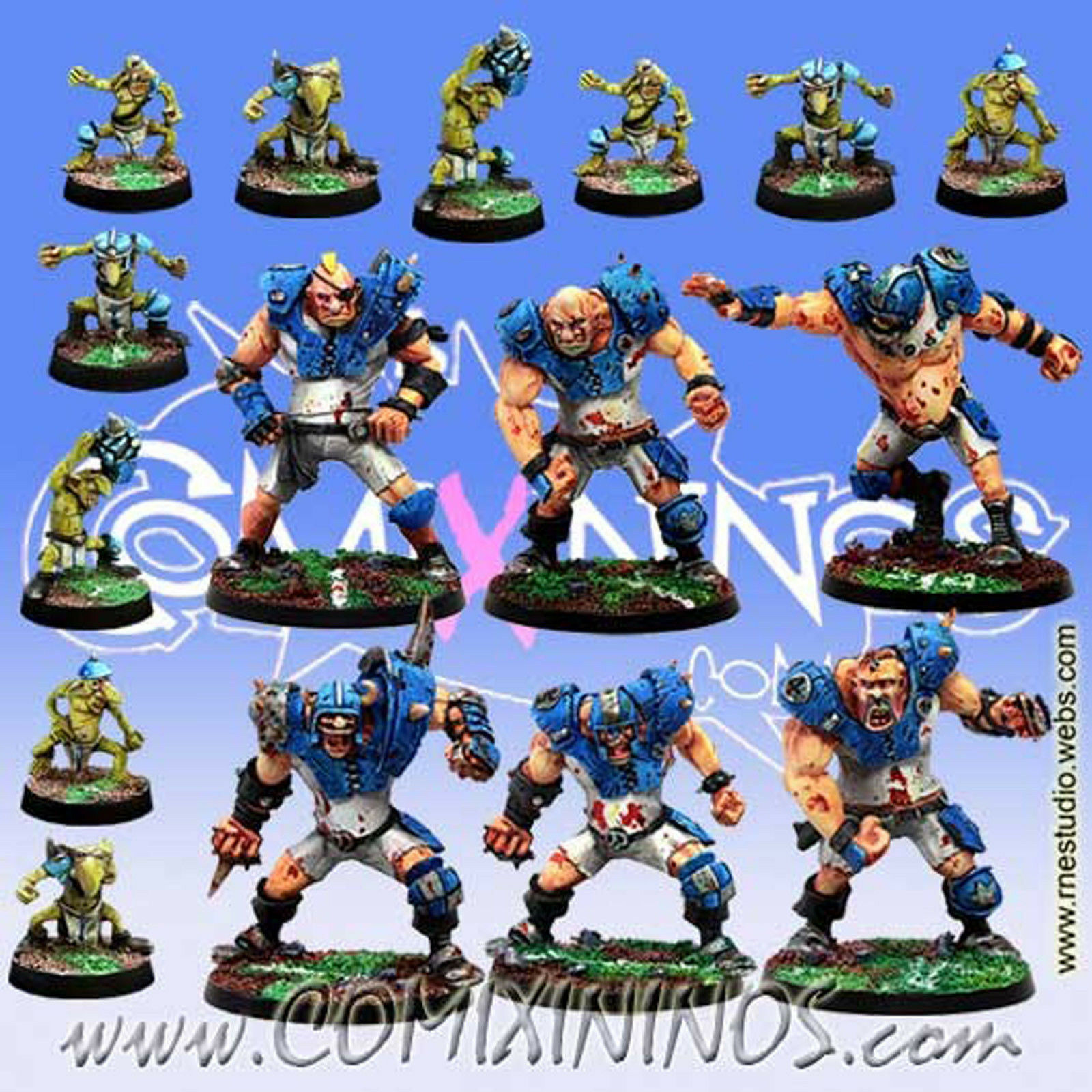 Fantasy Football - OGRE TEAM 16 Players for Blood Bowl - Meiko Minitatures