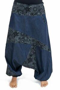 Sarouel mixte jean denim soft imprime ethnic graphic original - Neuf - S au XXXL