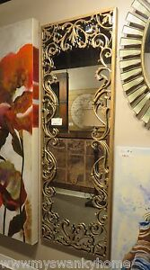 Ornate Baroque Full Length Gold Scroll Wall Mirror Extra