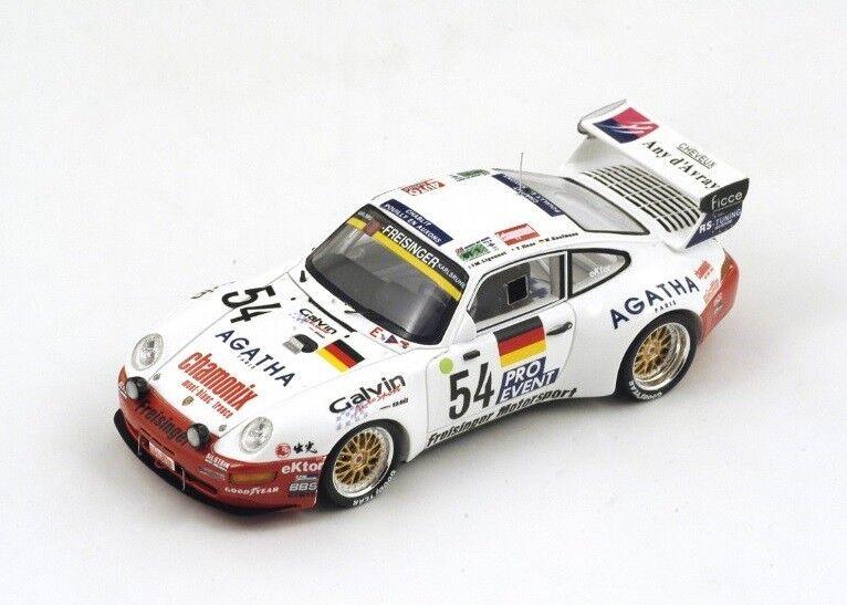 Porsche 911 Bi-Turbo   54 KaufhomHommes-Ligonnet  Le Mans  1995 (Spark 1 43   S0993)  haute qualité authentique