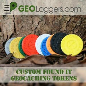 NEW-20-x-Custom-I-FOUND-IT-Geocache-Personal-Tokens-Coins-20-Pack