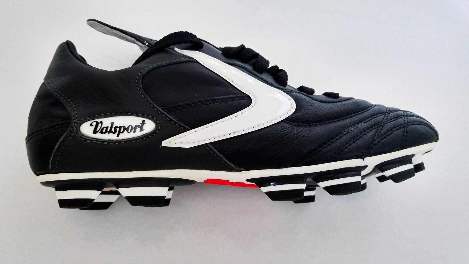 Valsport Genio PU Black Leather Soccer Boots Cleats US 8 EU 41 UK 41