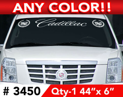 """CADILLAC ESCALADE ATS CTS STS SCRIPT DECAL STICKER 44/""""x6 ANY 1 COLOR"""