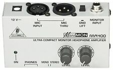 Behringer MA400 MicroMON Monitor Headphone Amplifier Amp w/ High-power Output