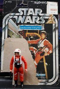 VINTAGE-STAR-WARS-1978-LUKE-X-WING-PILOT-100-COMPLETE-LOOSE-FIGURE-21-BACK-CARD