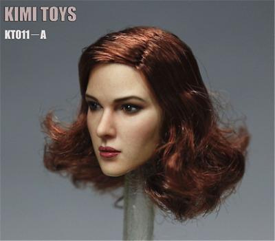 "KIMI Toys Planted Curly Short Hair European Female Head 1//6 F 12/"" Phicen Figures"
