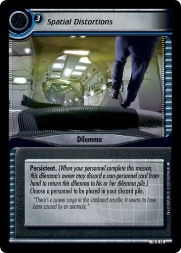Star Trek CCG 2E What You Leave Behind Spatial Distortions 14R14