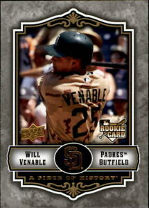 2009 (PADRES) UD A Piece of History #136 Will Venable Rookie Baseball Card