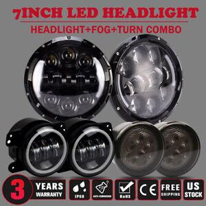 Halo LED Fog Light Combo Kit 2007-17 For Jeep Wrangler JK Halo LED Headlight