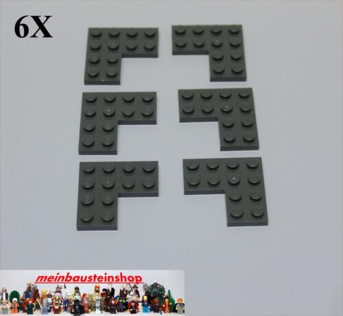 6x Lego ® 2639 eckplatte Angle Plate 4x4 NEW Dark Gray Dark Bluish Gray NEW