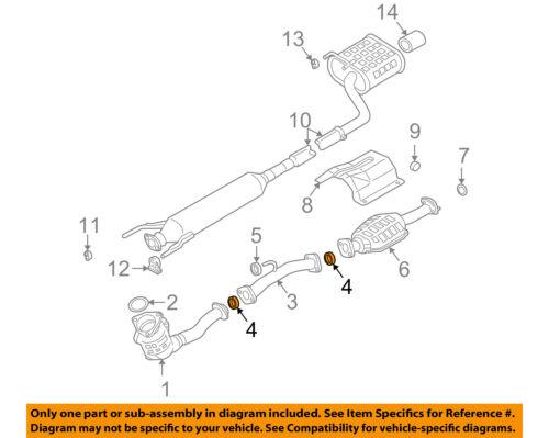 SUZUKI OEM 04-07 Aerio 2.3L-L4 Exhaust-Intermed Pipe Seal 1418376A00