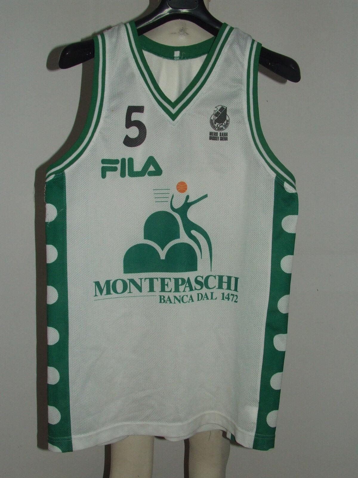 Trikot Maillot Trägerhemd Sport Basketball matchworn matchworn matchworn mens Sana Siena No. 5 aab373