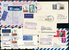 95750) LH FF Frankfurt - Paraguay 13.5.71, 5 versch.Belege ab DDR