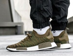 buy popular a4a6c 91687 New adidas NMD R1 Primeknit Mens sneaker olive green all sizes | eBay