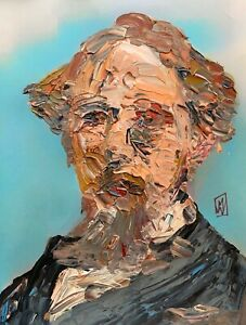Abstract-Portrait-of-Charles-Dickens-Author-Writer-Wall-Art-Original-Painting