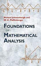 Foundations of Mathematical Analysis (Dover Books on Mathematics) by Richard Jo