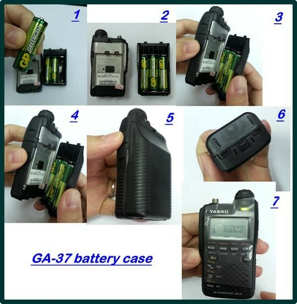 New GA-37 AA Size Battery Case for Yaesu FBA-37 VX-3R vertex horizon vx3r fba37