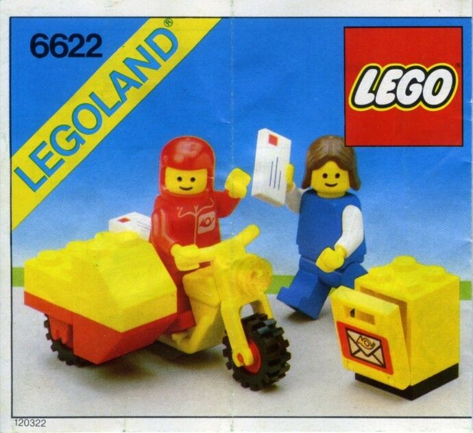 NEW Lego Classic Town 6622 Mailman on Motorcycle LEGOLAND Post Office Sealed