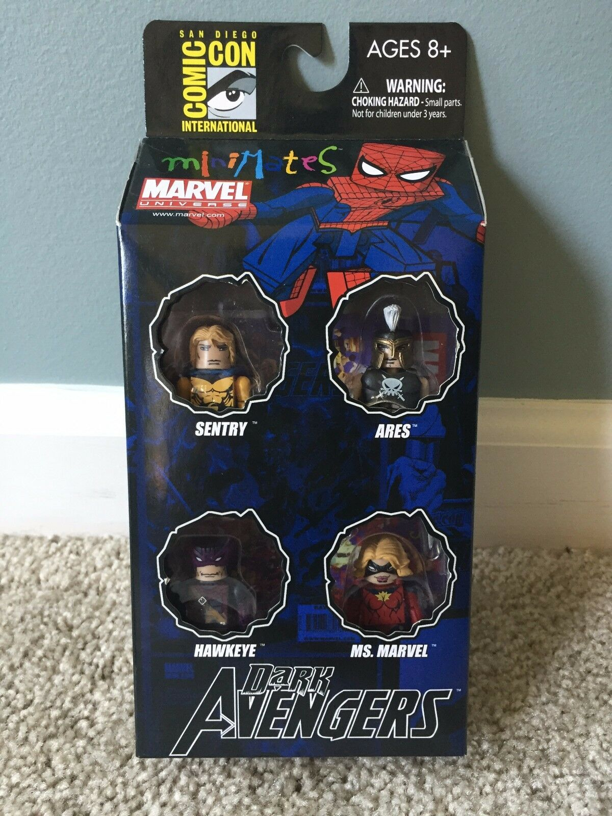 Marvel Minimates SDCC Dark Avengers  2 Box Set Sentry Ares Ms Marvel Hawkeye