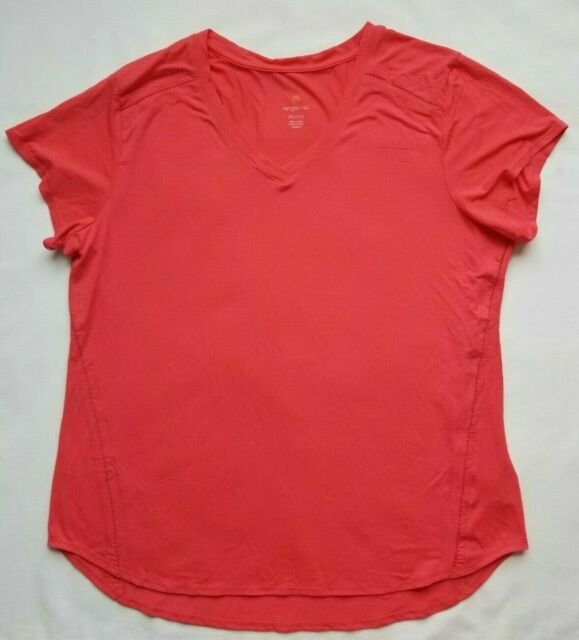 TANGERINE Women's Bright Coral Shirt Medium M T-Shirt Active Tee Athletic NWT