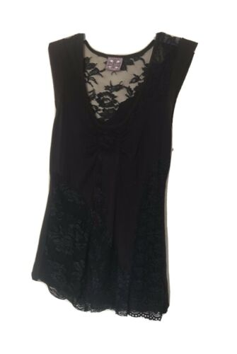 Free People Women Black Lace Tops Small
