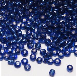 12//0 Perles de Rocailles en verre 2mm Trou Argenté Noir 20g