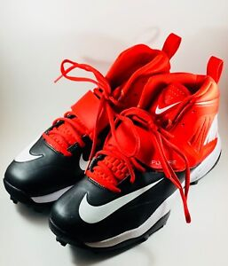 45321d7578d NW Nike Flywire Mens Lineman 3 4 TD Football Cleats Red White 603350 ...