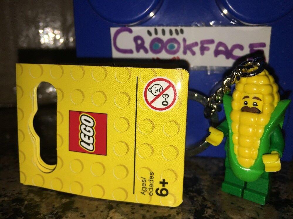 Lego Corn Cob Guy Key Chain/ Key Ring Brand New 853794