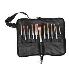 28 Pockets Professional Cosmetic Makeup Brush Bag Apron Artist Belt Strap Holder