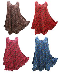 Hippie lagenlook tunique robe Boho Beach Caftan taille 18 20 22 24 26 28 30