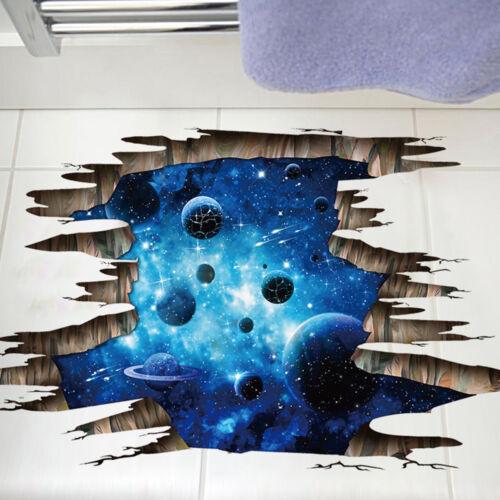 1PC 3D Floor//Wall Sticker Removable Mural Decals Vinyl Art Living Room Decors