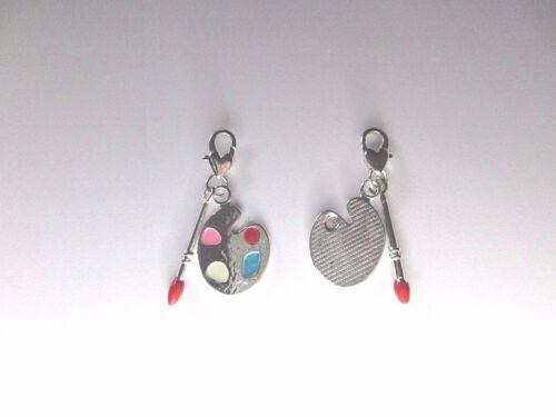Clip on 3D Enamel Paint Handbag Purse Artist Palette Charm for Link Bracelet