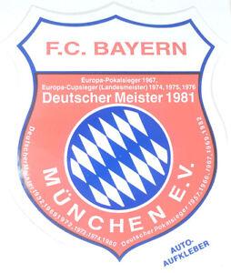 Details Zu Fc Bayern München Aufkleber Logo Bundesliga Fussball Dm 1981 305