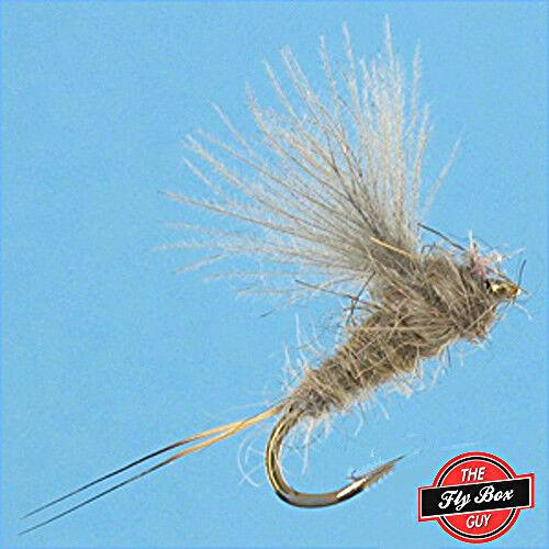 RS2 Emerger Gris Premium Fishing Flies-Douzaine-Sélectionnez Tailles ***